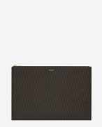 SAINT LAURENT Monogram SLG U CLASSIC TOILE MONOGRAM Document Holder IN BLACK Printed Canvas f
