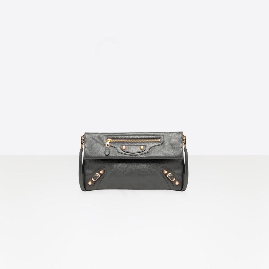 BALENCIAGA Giant 12 Gold Envelope Strap Giant City Handbags D f