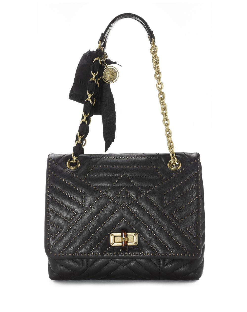 Medium Studded Lambskin Hy Bag Lanvin