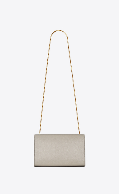 SAINT LAURENT MONOGRAM KATE Woman medium kate Chain bag in pale gold grained metallic leather b_V4