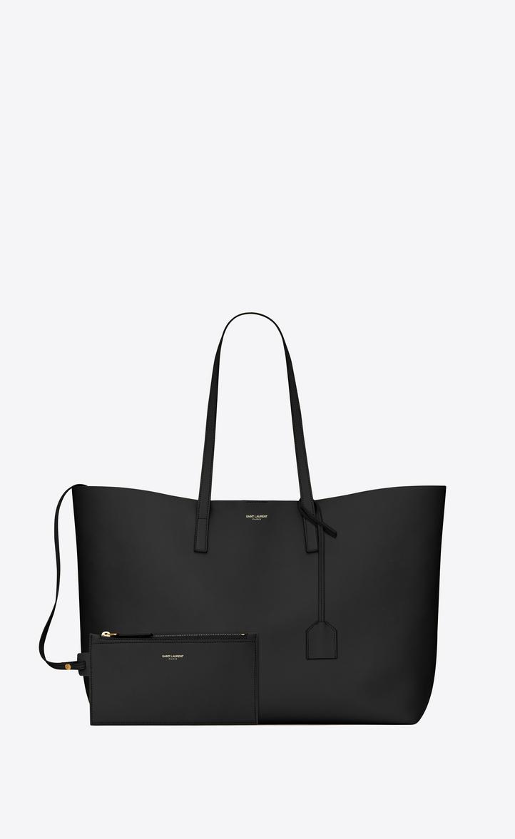 Saint Laurent Shopping Bag Saint Laurent E W In Supple Leather ... 854e956663