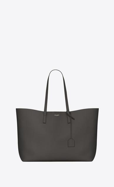 SAINT LAURENT Shopping Saint Laurent E/W D shopping saint laurent tote bag in dark anthracite leather v4