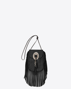SAINT LAURENT Anita bag D ANITA TASSELED FLAT BAG IN BLACK LEATHER f