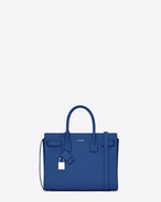 SAINT LAURENT Baby Sac de Jour D CLASSIC SMALL SAC DE JOUR BAG blu royal in pelle martellata f