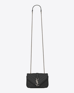 CLASSIC Baby MONOGRAM SAINT LAURENT CHAIN BAG IN Black MATELASSÉ LEATHER