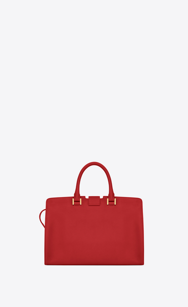 SAINT LAURENT Monogram Cabas Woman small cabas bag in red leather b_V4