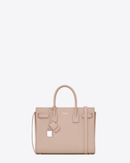 SAINT LAURENT Baby Sac de Jour D Classic Baby SAC DE JOUR BAG IN pale Pink Grained Leather f