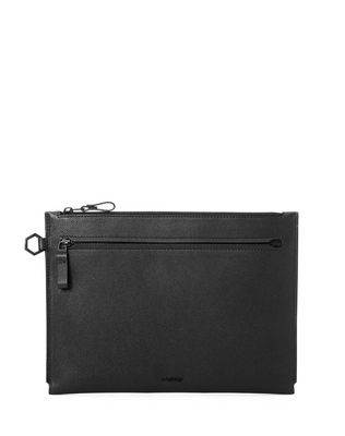 LANVIN Clutch U Clutch in grained calfskin F
