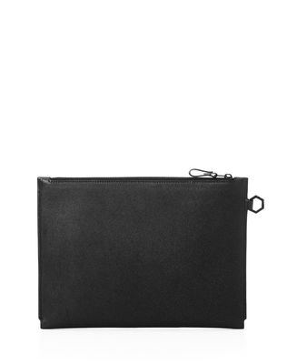 Clutch in grained calfskin