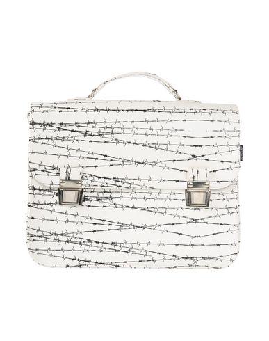 LA CARTELLA レディース ハンドバッグ ホワイト 紡績繊維 / ポリ塩化ビニル 20% / 革 20%