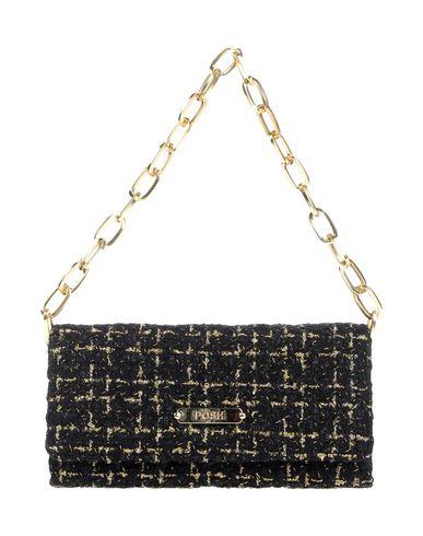 POSH レディース ハンドバッグ ブラック 紡績繊維