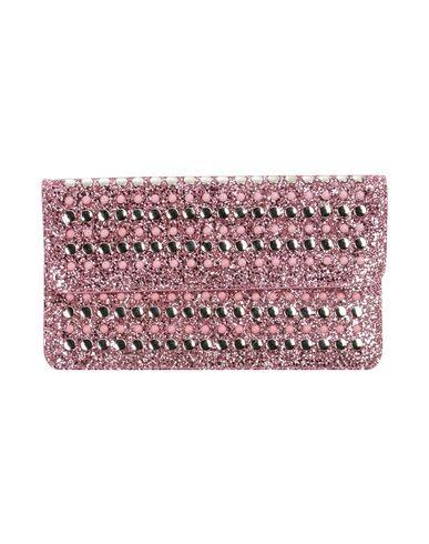 NANNI レディース ハンドバッグ ピンク ポリウレタン 35% / 金属繊維 25% / 革 20% / コットン 20%