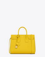 Classic Small SAC DE JOUR BAG in Yellow Leather