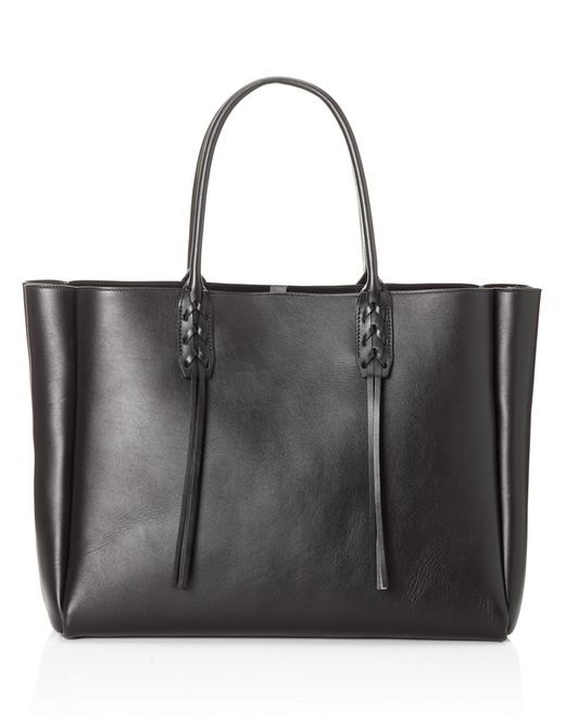lanvin small black shopper bag  women