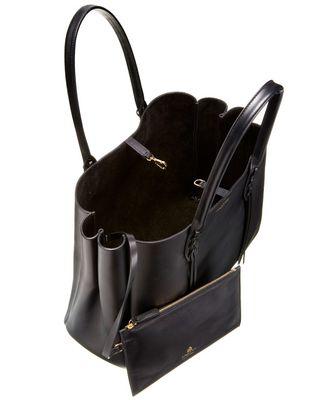 LANVIN SMALL BLACK SHOPPER BAG Tote D d