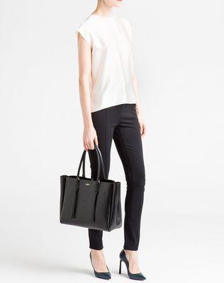 LANVIN SMALL BLACK SHOPPER BAG Tote D e