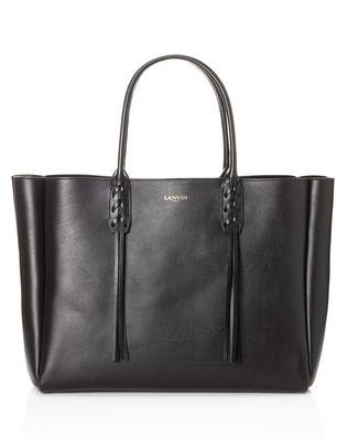 LANVIN SMALL BLACK SHOPPER BAG Tote D f