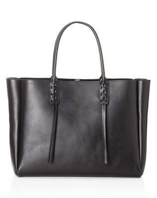 LANVIN SMALL BLACK SHOPPER BAG Tote D r