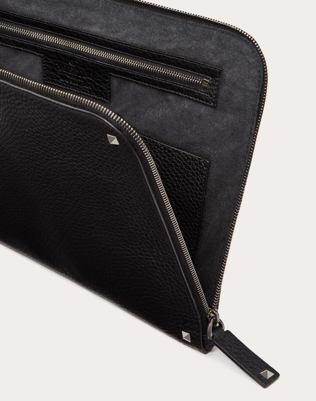 GRAIN CALFSKIN LEATHER BRIEFCASE