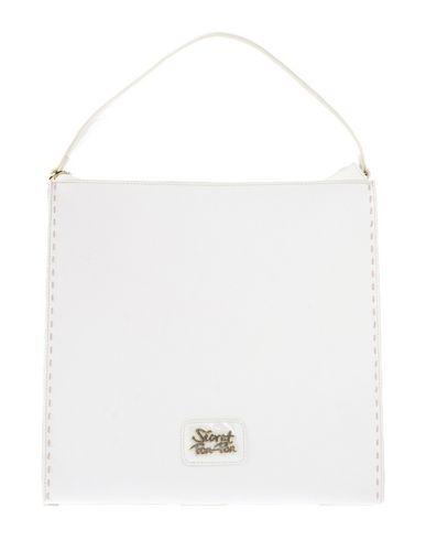 SECRET PON-PON レディース ハンドバッグ ホワイト 紡績繊維