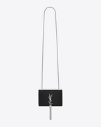 SAINT LAURENT MONOGRAM KATE WITH TASSEL D Classic Small Monogramme Saint Laurent tassel satchel In Black crocodile embossed Leather f