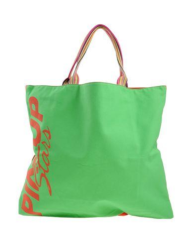 PIN UP STARS レディース ハンドバッグ ライトグリーン 紡績繊維