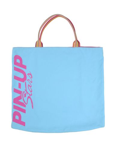 PIN UP STARS レディース ハンドバッグ スカイブルー 紡績繊維