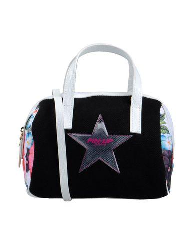 PIN UP STARS レディース ハンドバッグ ブラック 紡績繊維 / 合成皮革