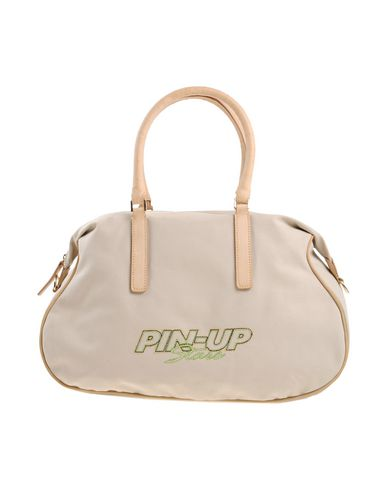 PIN UP STARS レディース ハンドバッグ サンド 紡績繊維 / 合成皮革