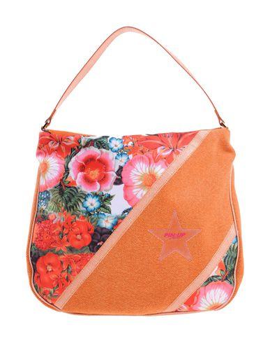 PIN UP STARS レディース ハンドバッグ オレンジ 紡績繊維