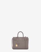 SAINT LAURENT Nano Sac de Jour D Classic Nano Sac De Jour Bag color nebbia in pelle f
