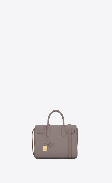 SAINT LAURENT Nano Sac de Jour Donna nano sac de jour bag color nebbia in pelle a_V4