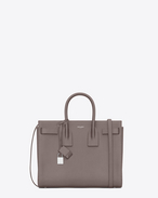 SAINT LAURENT Sac De Jour Small D CLASSIC SMALL SAC DE JOUR BAG IN Fog Grained LEATHER f