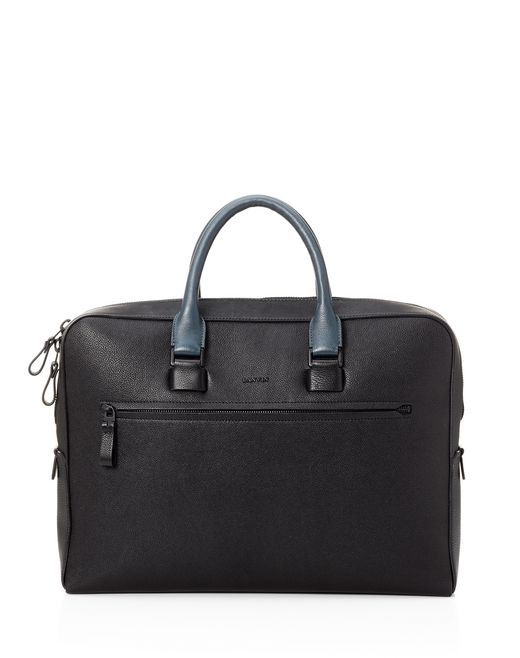 lanvin briefcase case in grained calfskin men