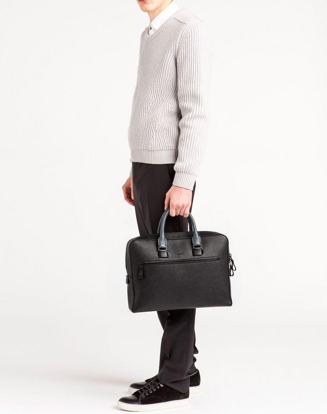 LANVIN Briefcase case in grained calfskin Document holder U e