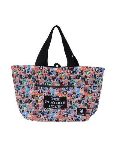 PLAYBOY レディース ハンドバッグ オレンジ 紡績繊維