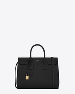 SAINT LAURENT Sac De Jour Small D classic small sac de jour bag in black leather f