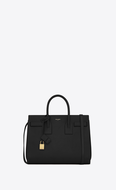 SAINT LAURENT Sac De Jour Small D classic small sac de jour bag in black leather a_V4