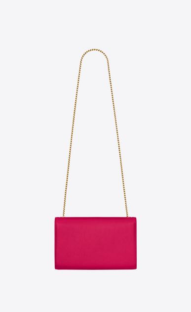 SAINT LAURENT MONOGRAM KATE D medium kate chain bag in lipstick fuchsia grain de poudre textured leather b_V4