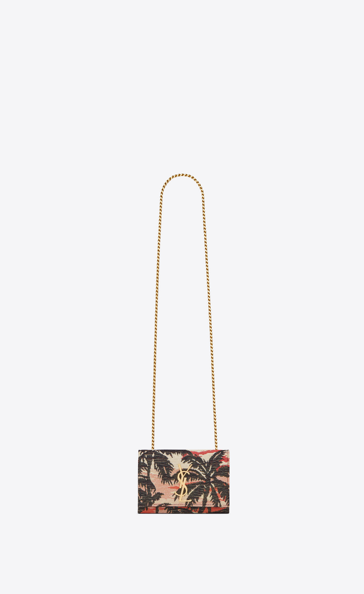 Classic Small KATE MONOGRAM SAINT LAURENT satchel in Red, Yellow and Black  Sunset Jacquard and f11e4ae6a5
