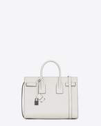 Classic Small SAC DE JOUR Bag in Dove White and Black Leather
