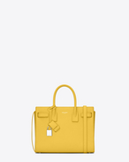 Classic Baby SAC DE JOUR Bag in Yellow Leather