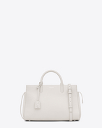 SAINT LAURENT RIVE GAUCHE D Small CABAS RIVE GAUCHE Bag in Dove White Grained Leather f