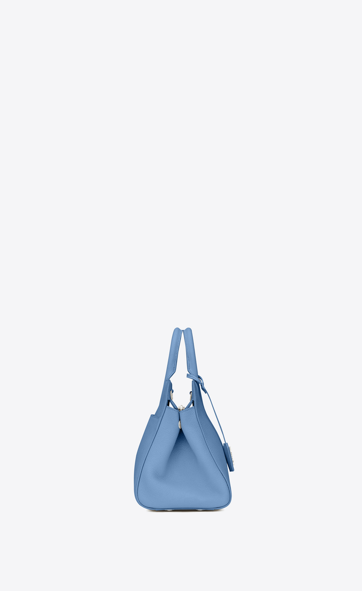 26c7208d67 Saint Laurent Small CABAS RIVE GAUCHE Bag In Light Blue Grained ...