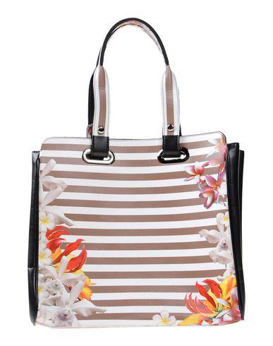NINA LUZ レディース ハンドバッグ ホワイト 紡績繊維