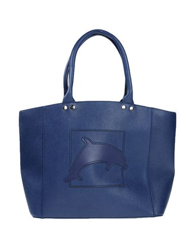 DAVIDELFIN レディース ハンドバッグ ブルー 紡績繊維