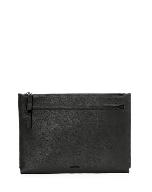 lanvin clutch in natural grain calfskin men