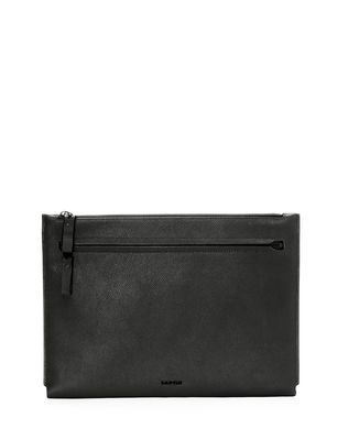 LANVIN Clutch in natural grain calfskin Clutch U f