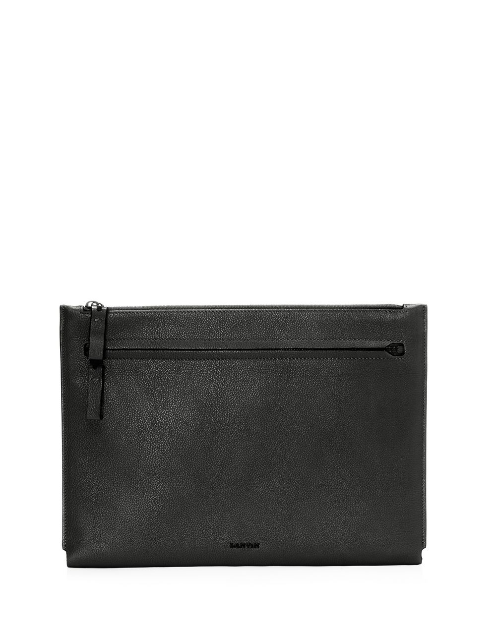 Clutch in natural grain calfskin - Lanvin