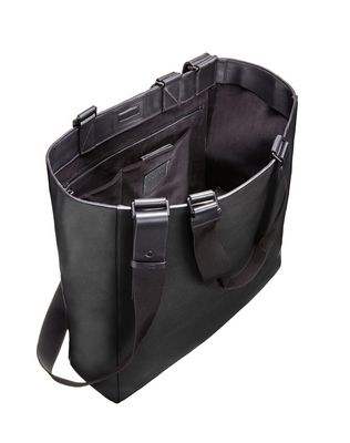 Shopper bag in natural grain calfskin